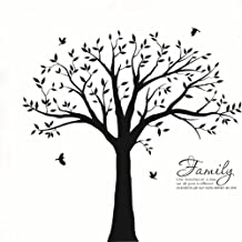 BDECOLL Familia grande como la rama en la pared Árbol Wall Decal Wall Sticker Cuarto de