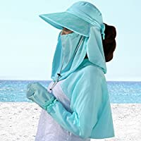 LBY La Sra Ciclismo Verano Facial Protectora Que Cubre Su Cara Sombrero De Viajes De Verano Al Aire Libre UV Sombrero para El Sol Sombreros de Sol