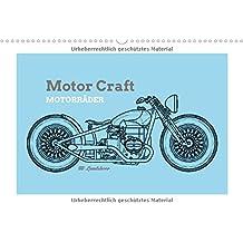 Motor Craft Motorräder (Wandkalender 2018 DIN A3 quer): Zeichnungen von Motorrädern (Drawing Bikes) (Monatskalender, 14 Seiten ) (CALVENDO Orte)