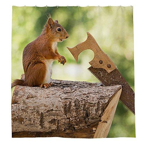 rioengnakg eine Maus Sägen das Holz Wasserdicht Polyester Duschvorhang, #1, 72