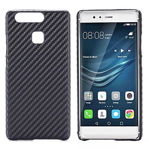 Hardcase Schutzhülle Carbon-Optik Schwarz für Huawei P9 (nicht P9 Lite) Hülle Tasche