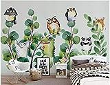 BHXINGMU Kundenspezifische Wandbilder Wanddekorationen Comic-Tiere Große Kinderzimmerdekoration 240Cm(H)×330Cm(W)