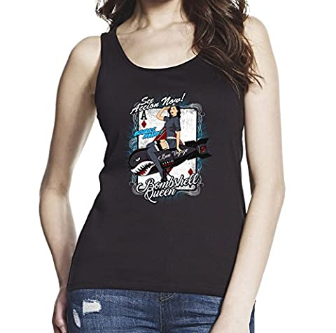 Bombshell Queen, Women Black 100% Softstyle Cotton Tank Top S-2XL, d1517