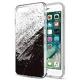 Zhuofan Plus Coque Apple iPhone 8, Silicone Transparente avec Motif Design Antichoc...