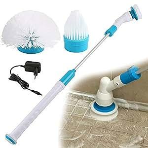 spin scrubber elektrische reinigungsb rste drahtlos aufladbar cleaner mit 3 b rsten f r. Black Bedroom Furniture Sets. Home Design Ideas