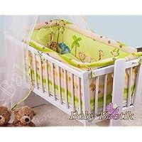 6pezzi Set di biancheria per culla bambino (90x 40) + lenzuolo con angoli elasticizzati in spugna adatta a dondolo/pz