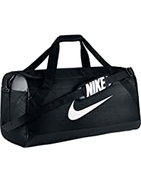 Nike Nk Brsla L Duff Bolsa de Deporte, Hombre, Negro (Black / Black / White), Talla Única