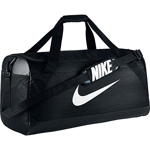 Nike Brasilia L Sporttasche, Black/White, 69 x 34 x 34 cm