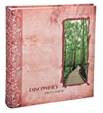Discovery Fotoalbum in 29x31 cm 100 weiße Seiten Jumbo Foto Album: Farbe: Rot