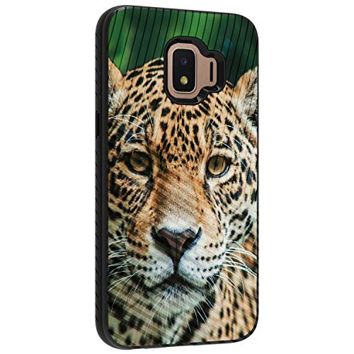 TurtleArmor - Kompatibel mit Samsung Galaxy J2 Core Hülle, J2 Armaturenbrett-Hülle, stoßfest, TPU, Tier-Design, Hypnotic Leopard