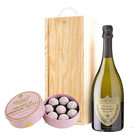 Dom Perignon Brut and Pink Charbonnel Chocolates Box 75 cl