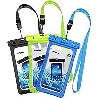 Mpow [3 Pezzi] Custodia Impermeabile Smartphone IPX8 Borsa Impermeabile,[Garanzia a Vita] Sacchetto Impermeabile Cellulare Dry Bag, Sacchetto Smartphone Universale per iPhone XS Max/XS/XR/X/7/7 Plus, Huawei,Samsung