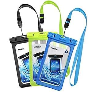 [3 Pezzi] Custodia Impermeabile Smartphone Mpow IPX8 Borsa Impermeabile,[Garanzia a Vita] Sacchetto Impermeabile Cellulare Dry Bag, Sacchetto di Smartphone Universale per iPhone 7/7 Plus, Galaxy /Google Pixel/LG/HTC