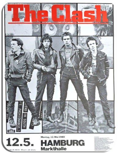 vintage-concert-poster-the-clash-hamburg-mouse-mat-punk-rock-gig-music-mouse-pad