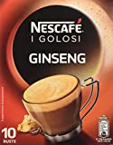 Nescafé - Caffè Golosi, Ginseng Preparato Solubile in Polvere al Caffè e Ginseng - 4 confezioni da 10 buste (10 tazze) l'una [40 buste, 40 tazze]
