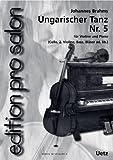 Dance hongroise No. 5 pour ensemble de salon (partition de piano et voix)