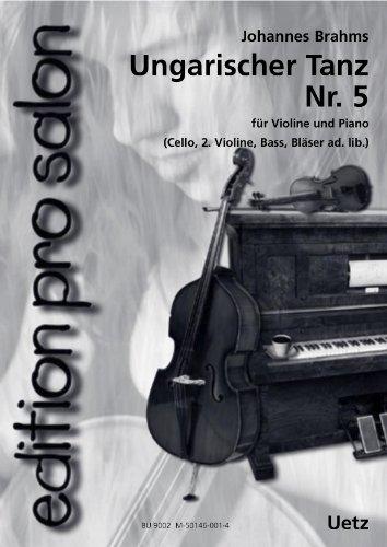 Ungarischer Tanz Nr. 5 Hungarian Dance No. 5 für Salonensemble (Partitur und Stimmen) (edition pro salon)