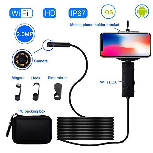 Preisvergleich Produktbild ZQG BEAUTY Verbessertes Endoskop,  HD Waterproof Industrial Handheld WiFi Endoscope 500W Pixel Android Apple Universal