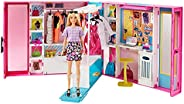 Barbie Dream Closet with Blonde Barbie Doll & 25+ Pieces, Includes 4 Outfits, Gift for Kids 3 to 7 Years O