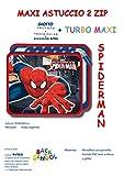 Maxi Astuccio Scuola Avengers, Frozen, Spiderman, Elsa (Contiene Giotto Turbo MAXI) (SPIDERMAN)