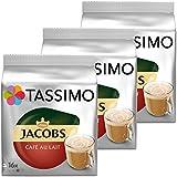 Tassimo jacobs café au lait-lot de 3 capsules de café de café torréfié moulu, de café 48 t-discs/nombre de personnes