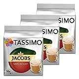 Tassimo Jacobs Café au Lait 3er Pack, Kaffee, Kaffeekapsel, Milchkaffee aus gemahlenem Röstkaffee, 48 T-Discs / Portionen