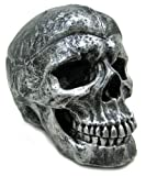Creepy Silvered Skull Ashtray Trinket / Stash Box by Private Label