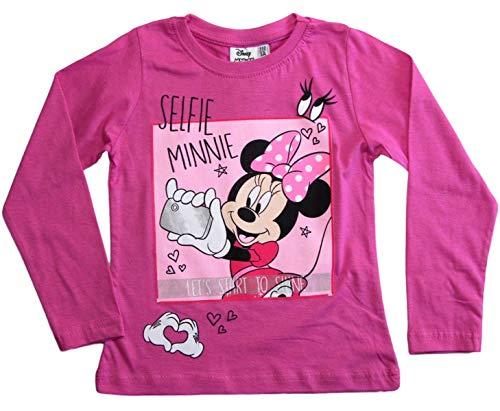 (Minnie Mouse Langarmshirt Disney Mädchen (Fuchsia, 116))