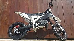 Pocketbike Crossbike Dirtbike 49cc 2 Takt RV-Racing Kinder Motorrad Schwarz