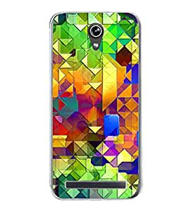Bright Colourful Pattern 2D Hard Polycarbonate Designer Back Case Cover for Asus Zenfone Go ZC500TG (5 Inches)
