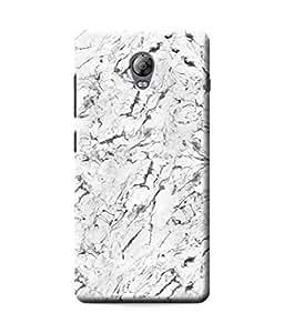 Be Awara White Texture Marble Designer Mobile Phone Case Back Cover For Lenovo P1