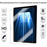 Vidrio templado Fiimi Protector de pantalla para Microsoft Surface Pro 4, 9h Dureza, 0,3mm de espesor, fabricado en cristal