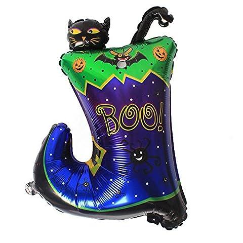Outgeek Stiefel Katze Form Halloween Folie Mylar Ballon für Halloween Cosplay, Kostüm Party, Bar Dekoration