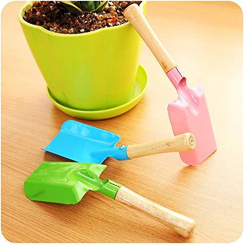 Pot Pourri✧✧Chshe Gartenschaufel, Außenfarbiger Griff, Edelstahlspaten, Genießen Sie Einen Glücklichen Eltern-Kind-Moment