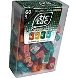 TIC TAC Spender Box with 60 Mini Boxes (Each 3.9 Grams) Liliput, Flavours : Orange, Mint, Peach, Peppermint. by Tic Tac