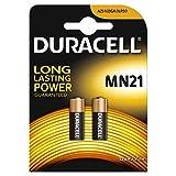 Guilty Gadgets Duracell Alkali-Mangan-Batterien für Autosicherheitsalarm und Autoschlüssel, 23 A, 23 AE, A 23, V23GA, MN21, LRV08, 12V, 2 Stück
