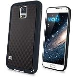vau Bumper Cuboid - black - TPU Silikon-Case, Tasche für Samsung Galaxy S5
