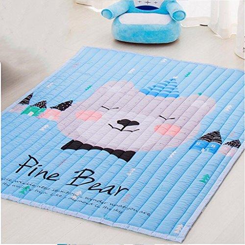 XC Baby Krabbeln Pads Verdickung Ringe Baby Krabbeln Pads Falten Fußmatten Baby Anti-Damp Pads Spieldecken (Farbe : C) -