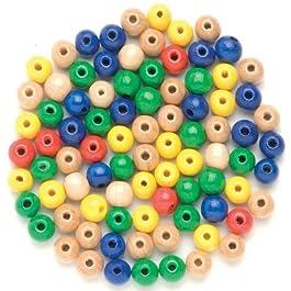 Glorex legno perle 155st bunt di mix, Legno, Multicolore, 11x 8.5x 0.5cm