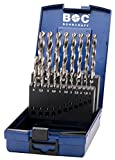 Bohrcraft Spiralbohrer Set HSS-G in ABS-Box KG10, 19-teilig, 19 Stück, Durchmesser 1-10 x 0,5 mm, 11201330019