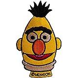 Parches - Sesamestráse Bert Comic niños - amarillo - 9,1x5,5cm - termoadhesivos bordados aplique para ropa