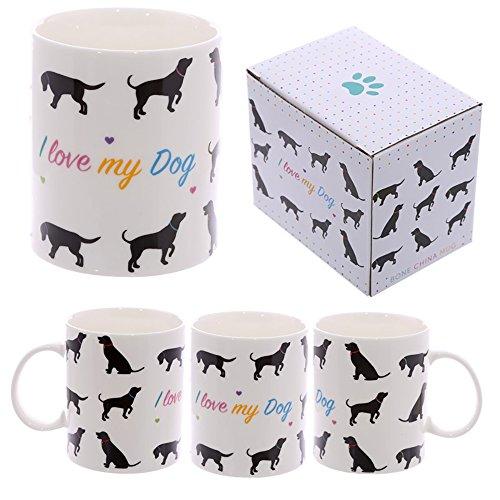 Tazza mug Colazione in ceramica con Design Io amo Il mio Cane