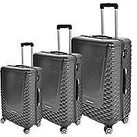 Track Luggage Trolley Bag for Unisex, Grey, AB8023-3PC