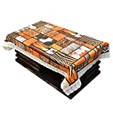 #7: Kuber Industries Tiger Print Waterproof Center Table Cover 4 Seater (40*60 inches)