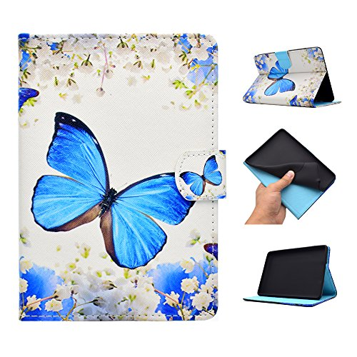 Kindle Fall Butterfly (GSWAY XX-PU-KF72015 Tablet-Schutzhülle, Kindle Fire HD 7 2015, Butterfly & Flower)