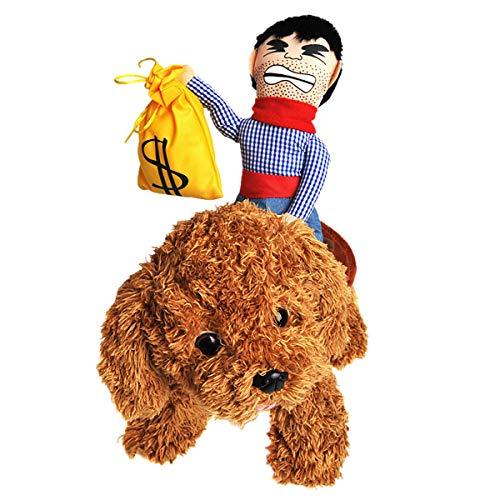 Haisiluo Hundekostüm, Cowboy-Reiter, Ritter-Stil, mit Puppe und Geldbörse, für Halloween-Tage, Haustierkostüm, Dekoration, Requisite, Geschenk für Katzen, Hunde, Welpen (Halloween Geldbörsen)