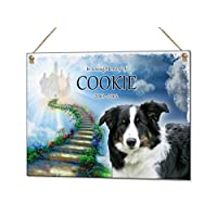 Beenanas Pet Dog Cat Rainbow Bridge Personalised Memorial Metal Typography Plaque Rabbit Hamster