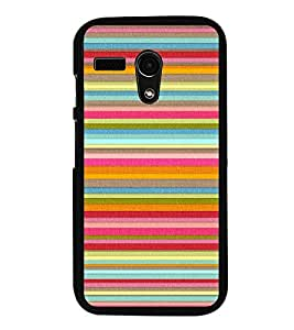 Multicolour Layer Pattern 2D Hard Polycarbonate Designer Back Case Cover for Motorola Moto G :: Motorola Moto G (1St Gen)