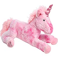 GirlZone: Stuffed Pink Plush Unicorn Teddy, Large 18 Inches