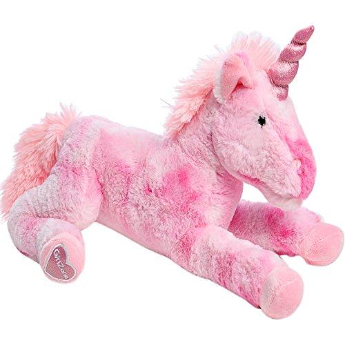 Regalo ragazza morbido peluche unicorno pupazzo rosa imbottito : peluche giganti bambina - regali ideali di 40 cm - peluche unicorni per bambine e adolescenti - regali di compleanno per ragazze che amano gli unicorni e i peluche grandi - età ideale 3 4 5 6 7 8 9 + anni